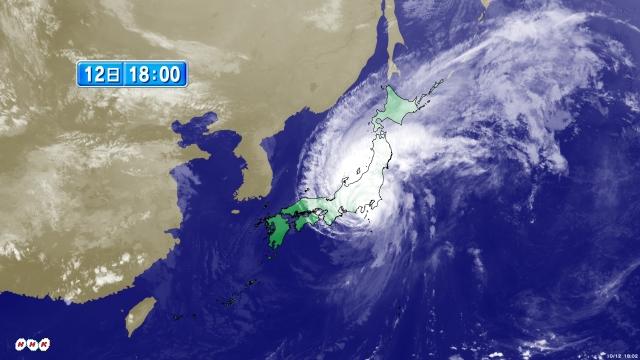 【速報】台風19号、静岡県伊豆半島に上陸 ドコモの携帯電話 静岡の一部地域でつながりにくく