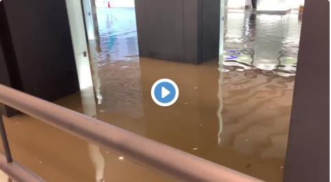 千葉駅が大雨でヤバイ ※動画