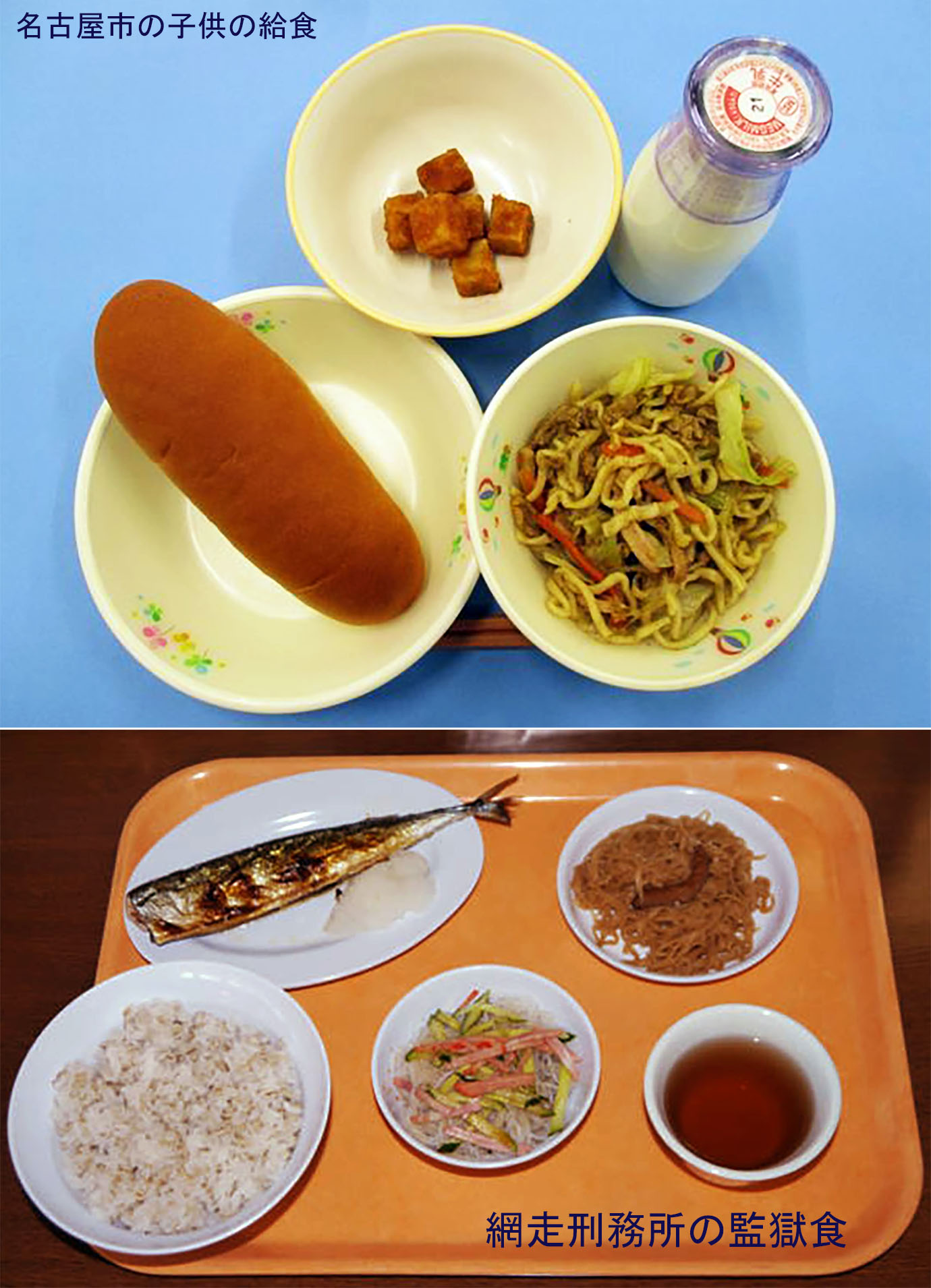 【炎上】名古屋の学校給食が刑務所の監獄食よりも粗末だと大炎上。全国から怒りの声「名古屋は子供を大切にしない町」