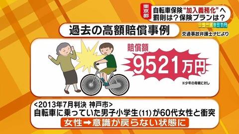 小5の時に自転車で老人を撥ねて9500万の賠償金を請求されたけど質問ある? 「これ高額慰謝料で超有名な事件やぞ お前か?」