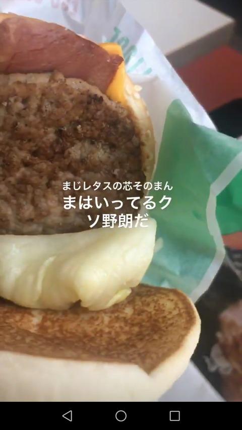 【悲報】マックさん、ハンバーガーにレタスの芯をそのまま入れてしまう…