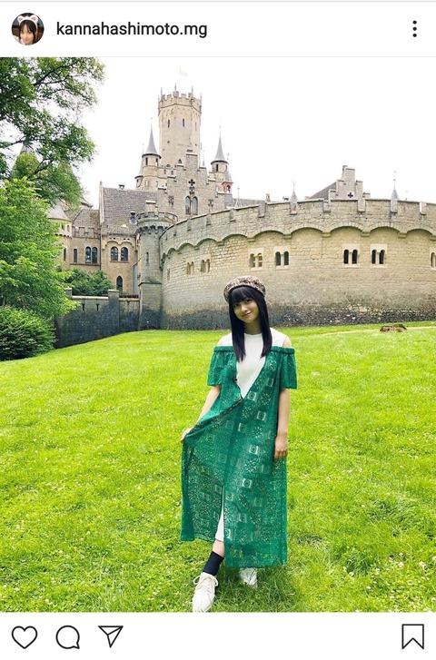 橋本環奈がプリンセスに!? ドイツの古城で撮影した壮麗ショットに「完全にお姫様じゃん!」の声!