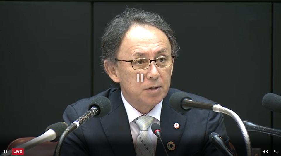 【LIVE放送】首里城火災 沖縄県知事会見