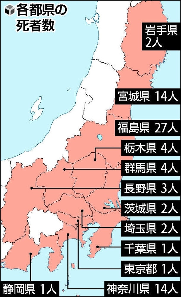 福島「水が引いたぞ!」死体22体発見。死者数ランキング絶望の一位へ